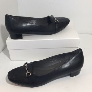 A2 By Aerosoles Way Back Black Leather Loafer